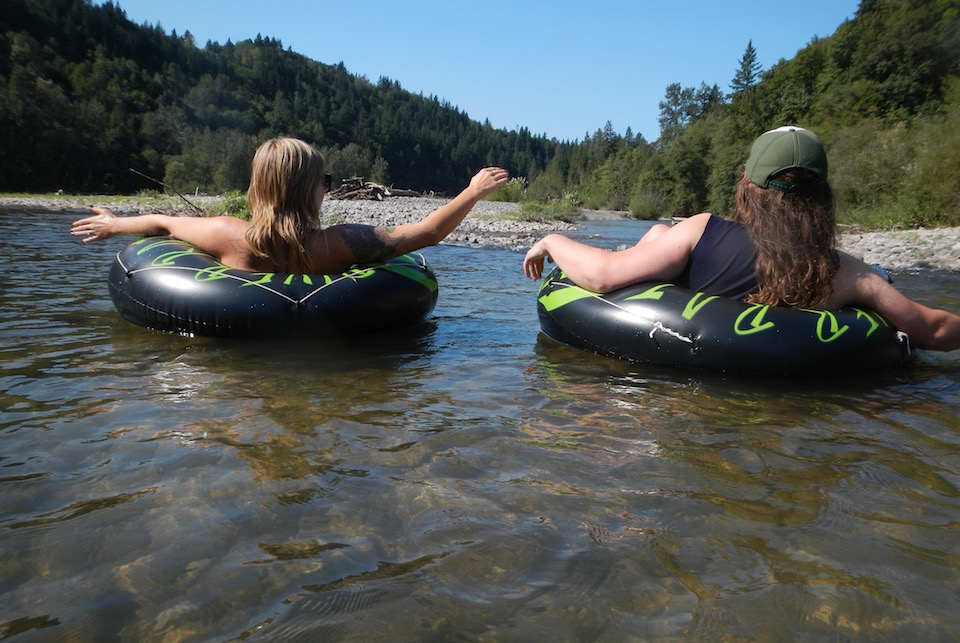Float and tube down the McKenzie River