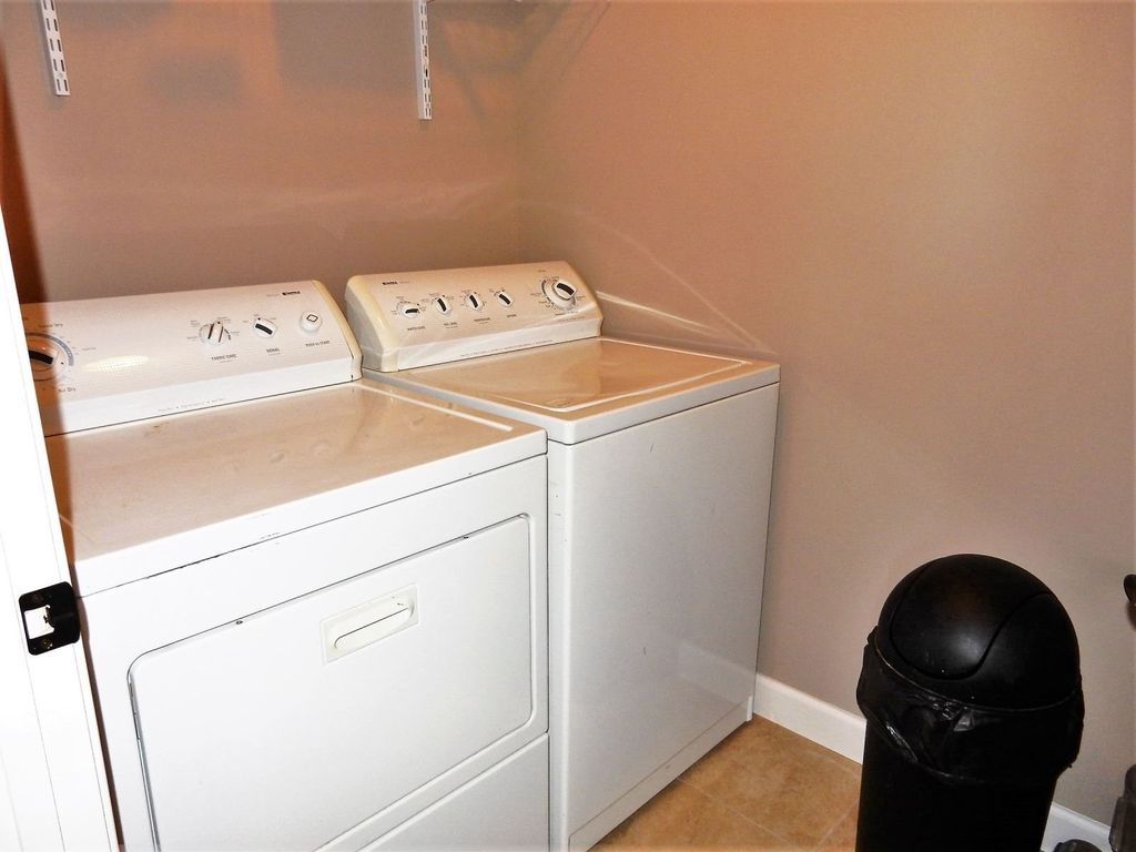 Laundry with full size washer and dryer