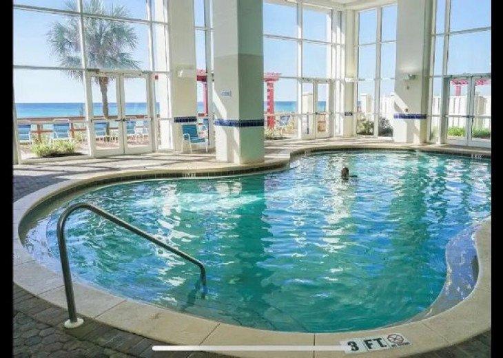 One of indoor pools