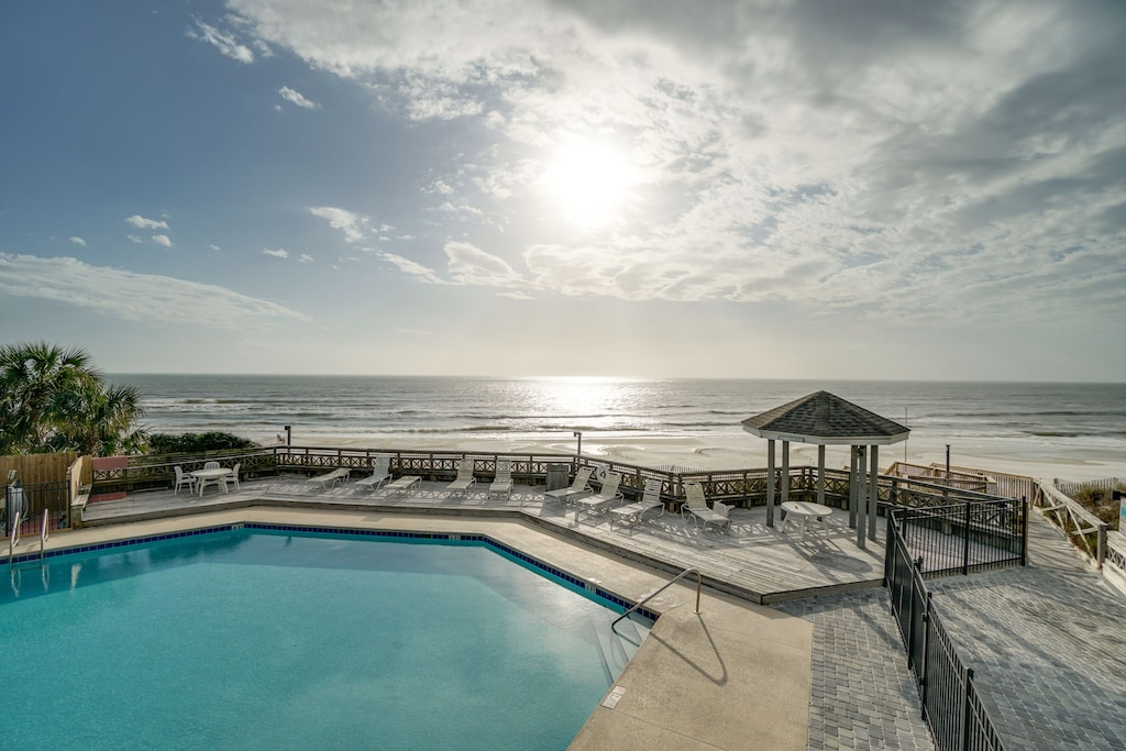Lovely view of Gulf Front Pool and the Gulf of Mexico