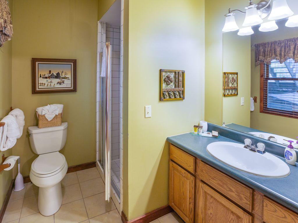 1st floor bath with walk-in shower