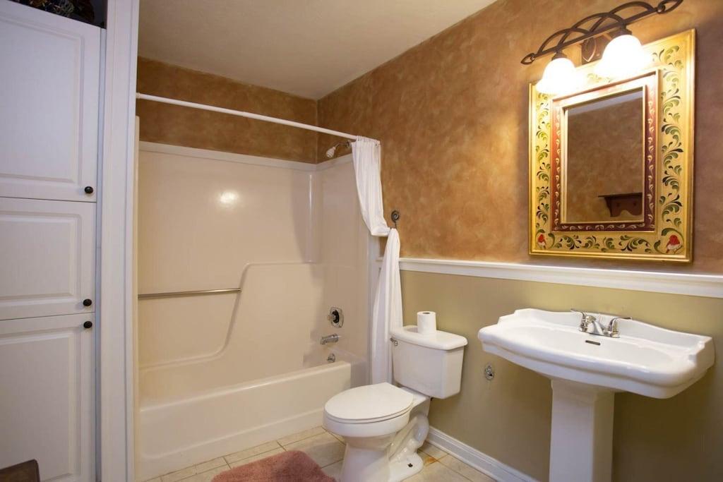 It has a private full bath.