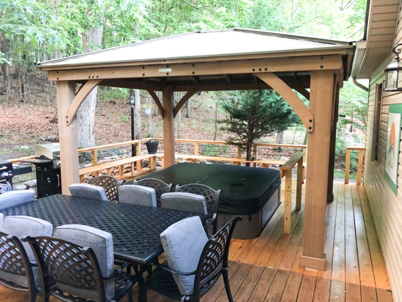 Just added- gazebo over the hot tub!