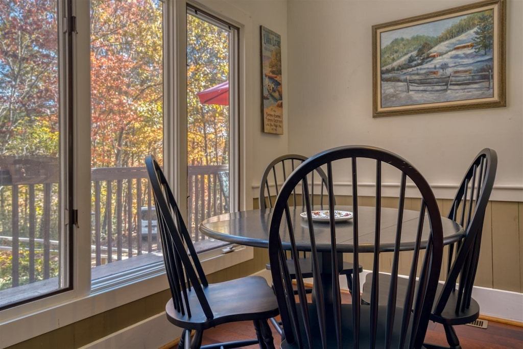 Enjoy a bite to eat with views in the nook