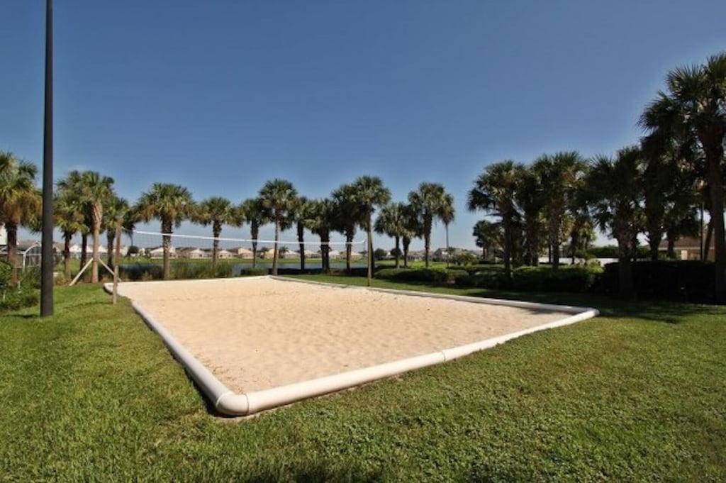 Beach volleyball in the resort
