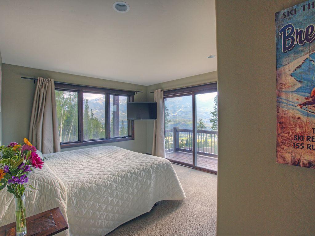 Master Bedroom #5 - Master bedroom, king bed, private bath. Hi def Tv.  Private deck. Sunset views!