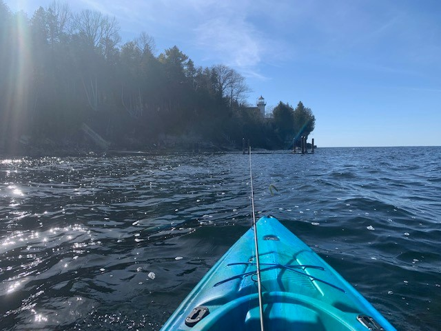 Kayak around the historic Sherwood Point Lighthouse and the rock walls! Fishing is great!