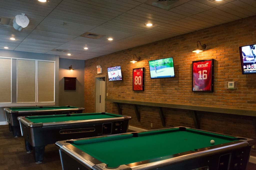 After dinner, enjoy a game or two of pool and treat the family to a round of arcade games
