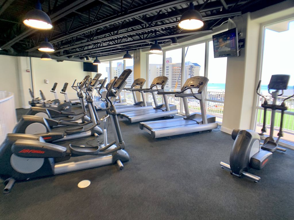 Fitness center cardio level.