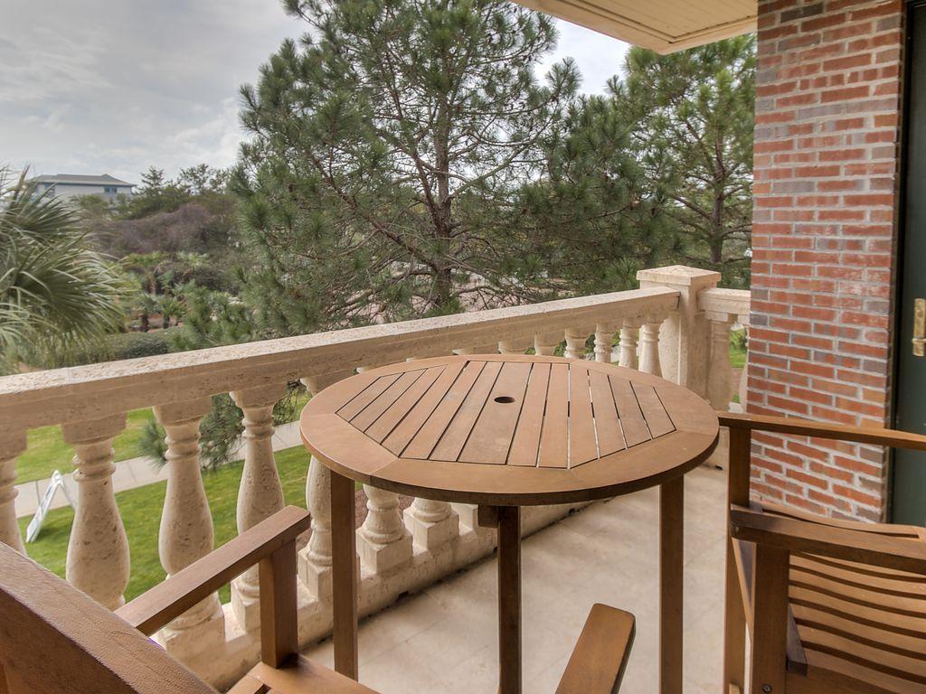 Balcony overlooking 30A