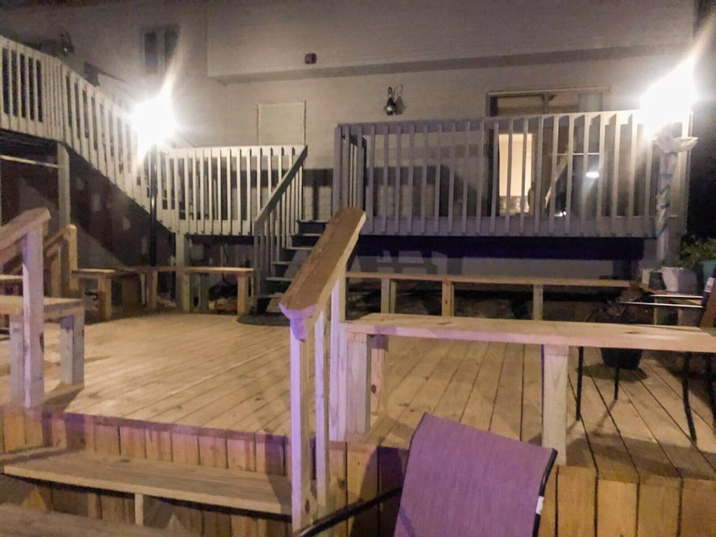 Relaxing at Night on the Deck