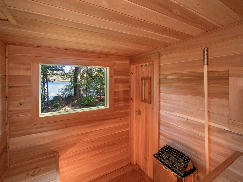 sauna and view