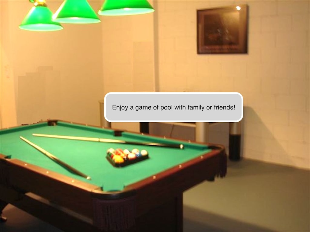 Enjoy a game of pool in the house with your family or friends!