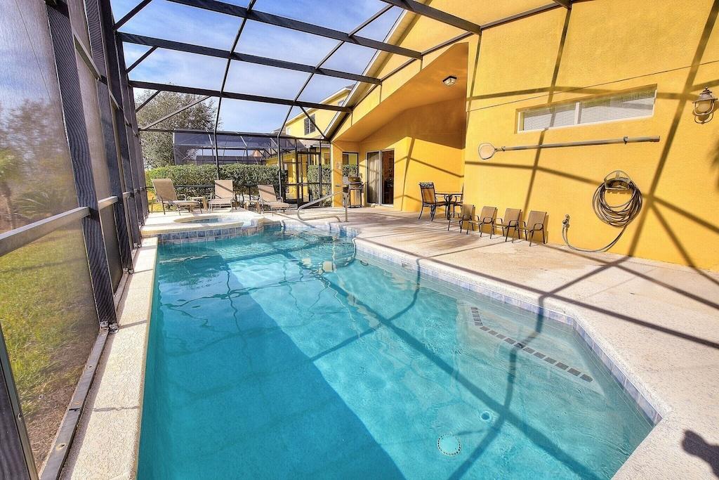 The beautiful, southern facing, heated pool!