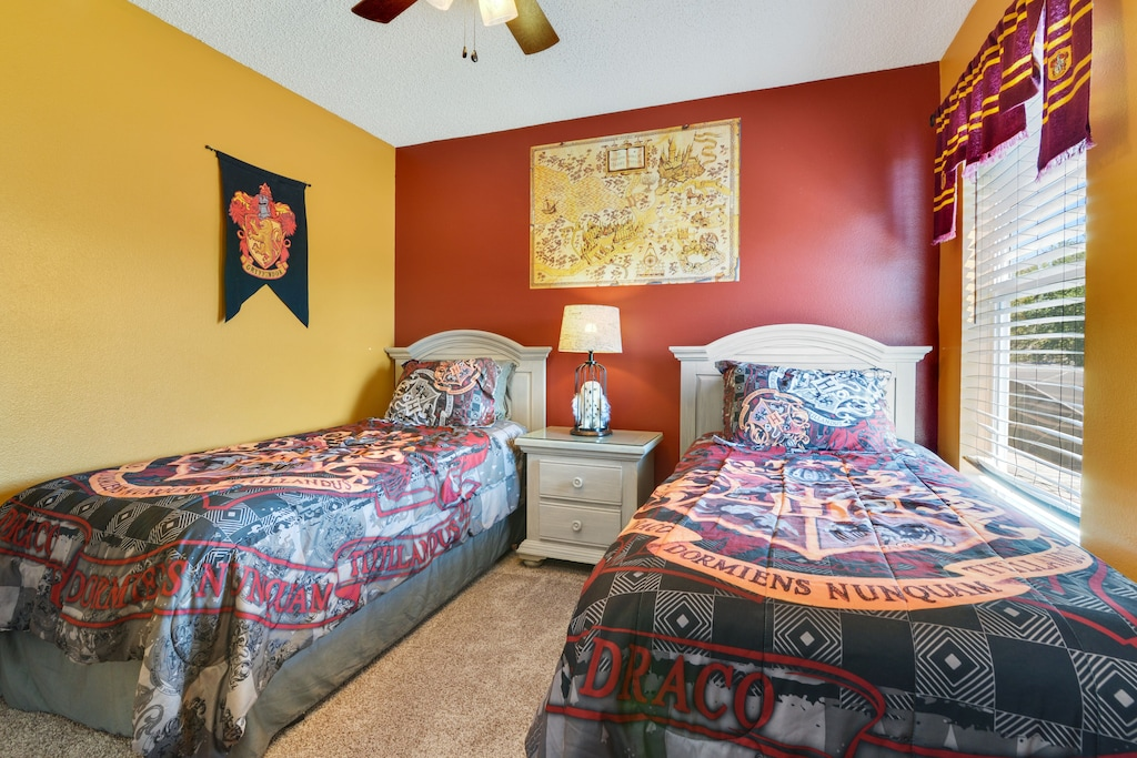 Fun décor in all themed rooms!