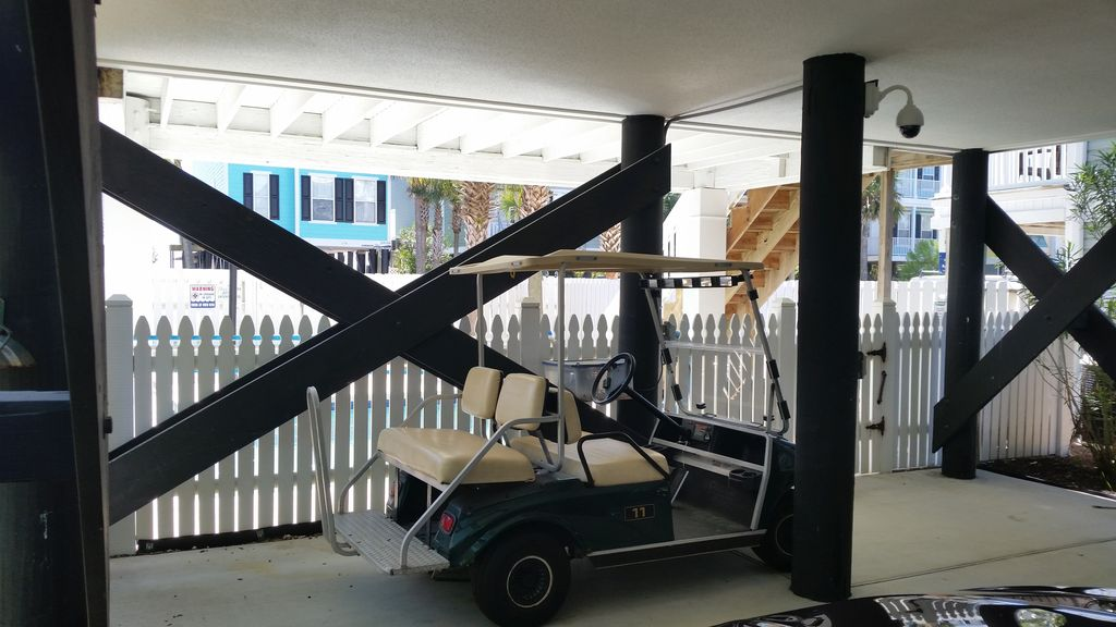Complimentary golf cart for use by licensed guests :)