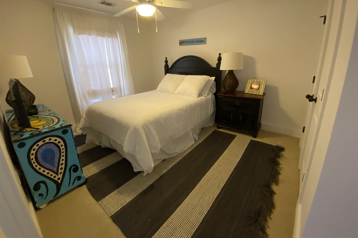 """Your """"Spunky - Teen"""" will love their cozy full size bed and their own T.V! + their own private bath!"""