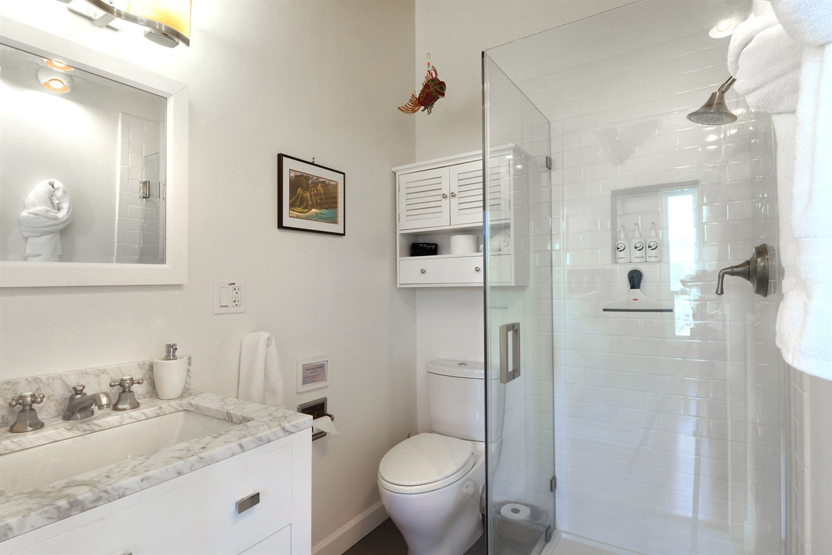 River Seascape Master Bath with Shower