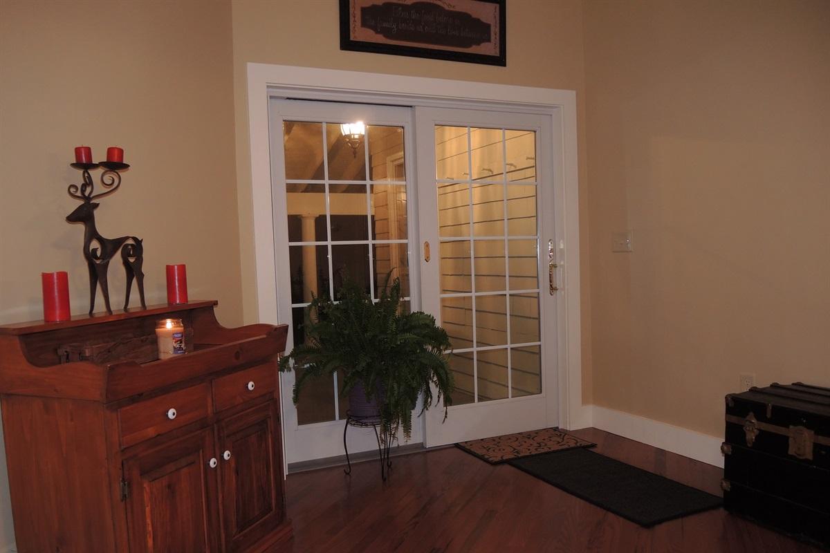 Sliding door to covered verandah