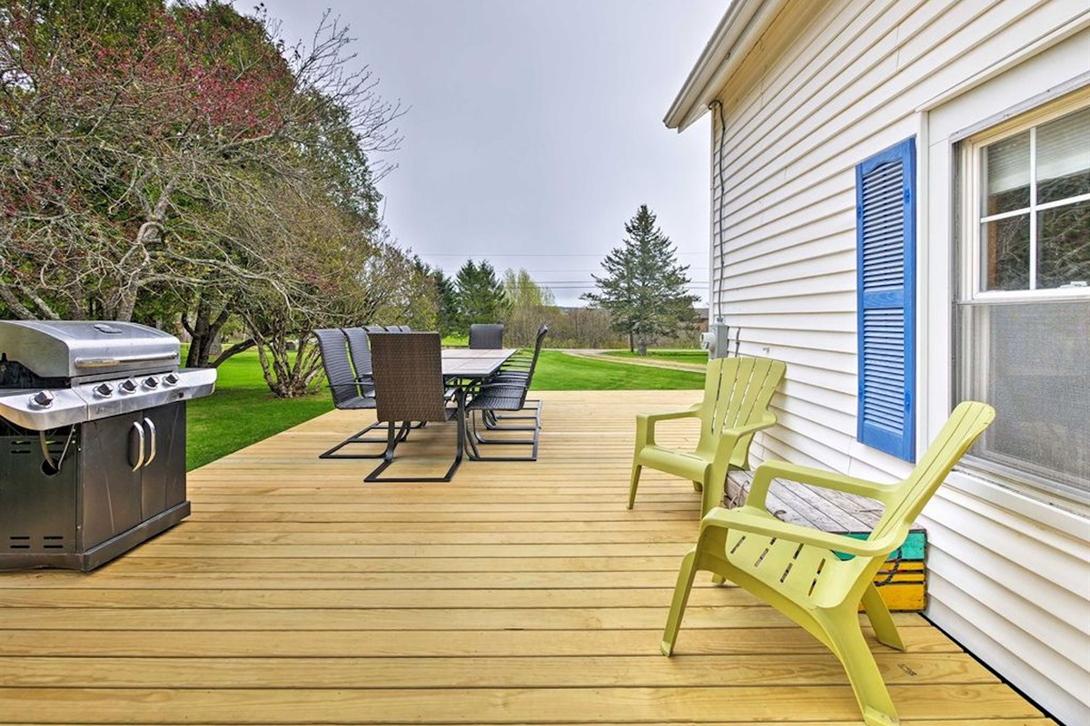 Large water view deck