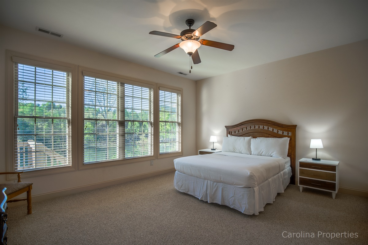 Lower level private room with queen size bed