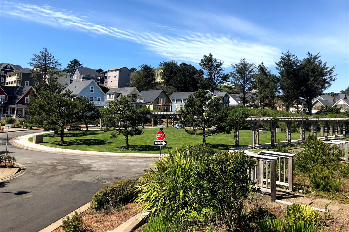 La Sirena has a great corner view of Olivia Beach Park.