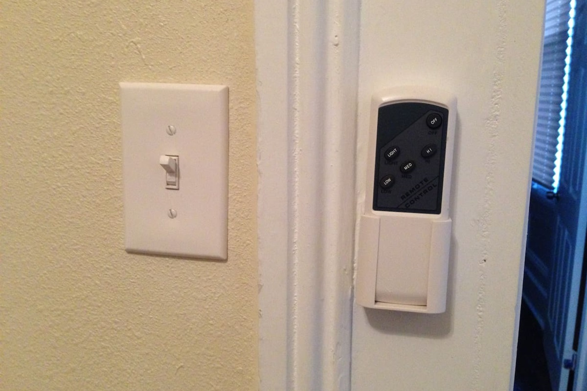 fan/light remotes in every room