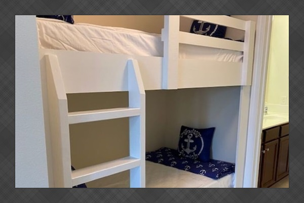 Custom built bunk beds!