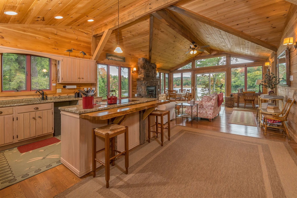 Large Open Plan Cabin All on One Floor