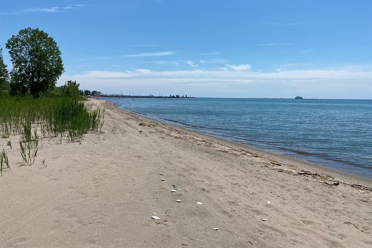 A beautiful quiet and private beach to enjoy on a sunny day