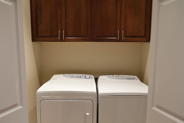 Your very own top of the line washer and dryer. (We even provide the detergent!)