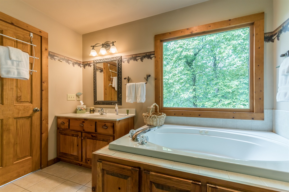 Master Bath Jetted Tub with a Relaxing View