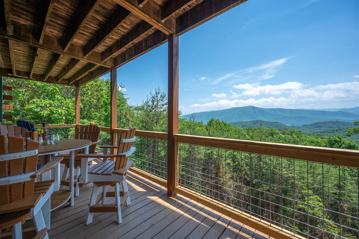 Brand new Polywood Furniture is on all 3 decks.  Enjoy your morning cup of coffee, a good book, family games or dinner while you take in these gorgeous views!