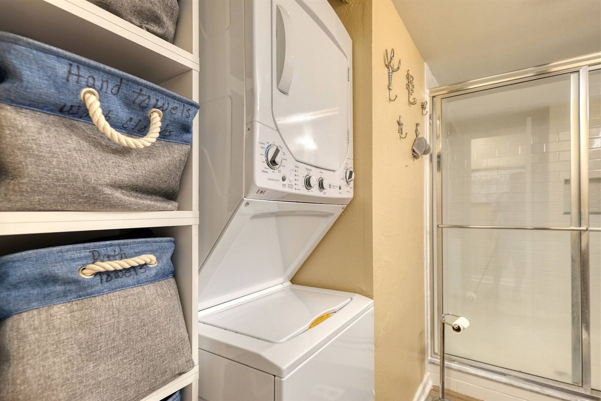 Washer dryer for guest to use