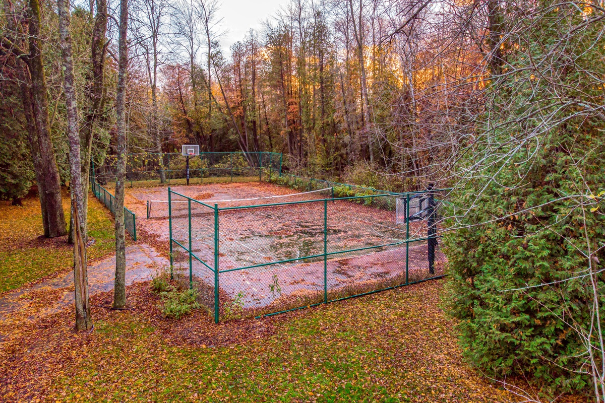 Private Tennis/Basketball Court! Game on!