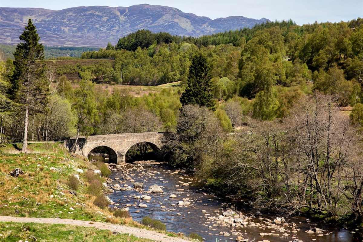 The road to Glentruim