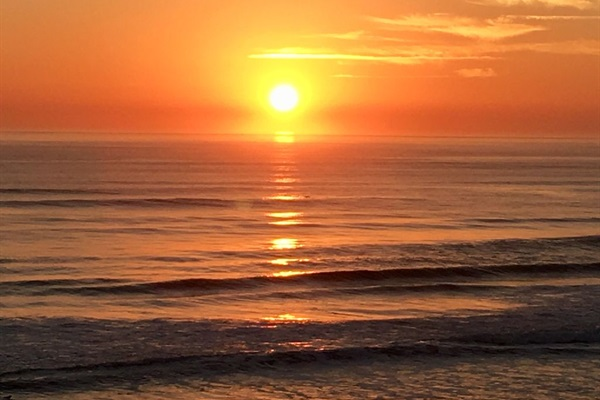 Sunrise taken from balcony on 2/16/2018.