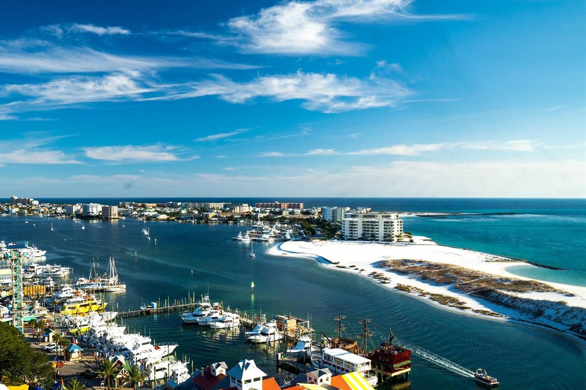 View of Destin Harbor & Holiday Isle Peninsula