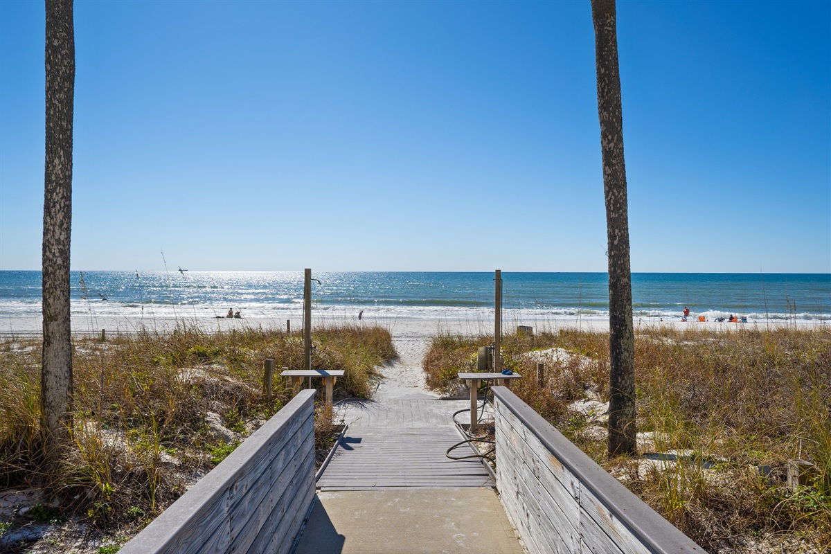 Pathway to our 1500 feet of private beach