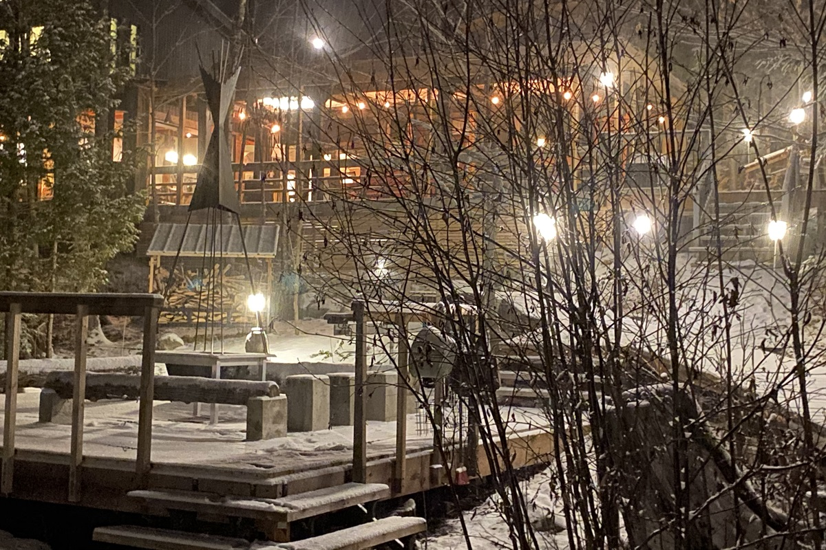A snowy night - looks inviting no matter where you look!
