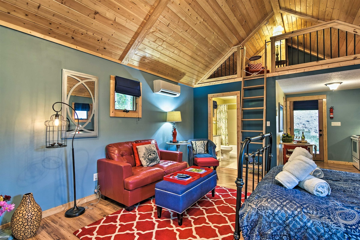 The loft is perfect for kids!
