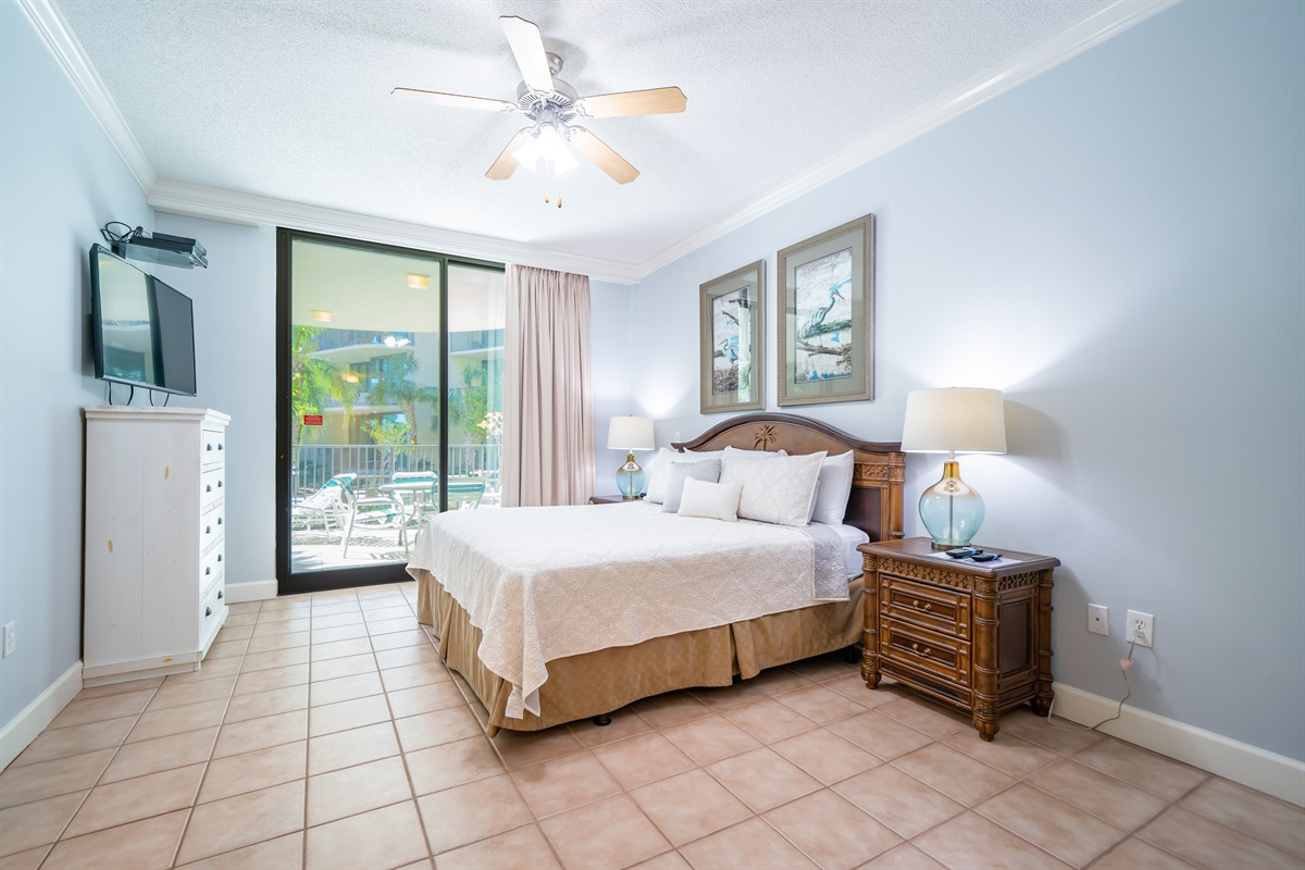 Master Bedroom with entrance to patio!