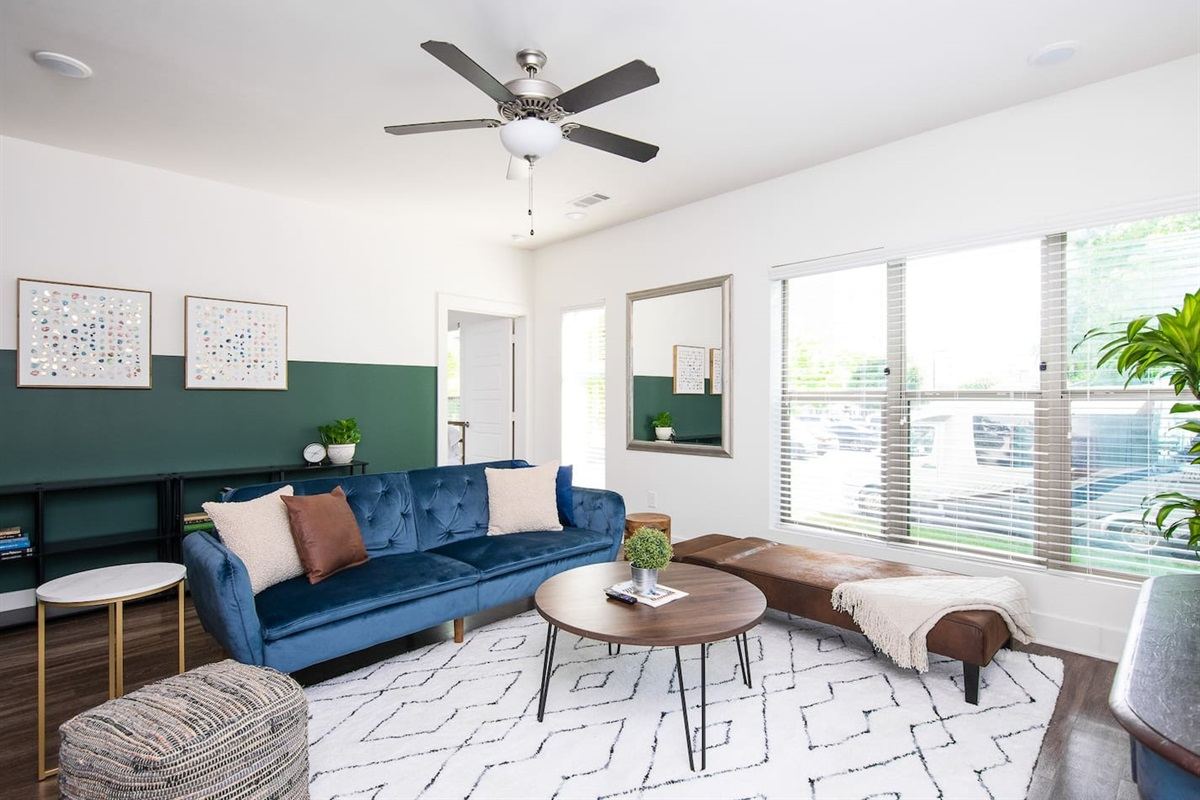 Comfortable living room for you to relax with a smart tv and Netflix!