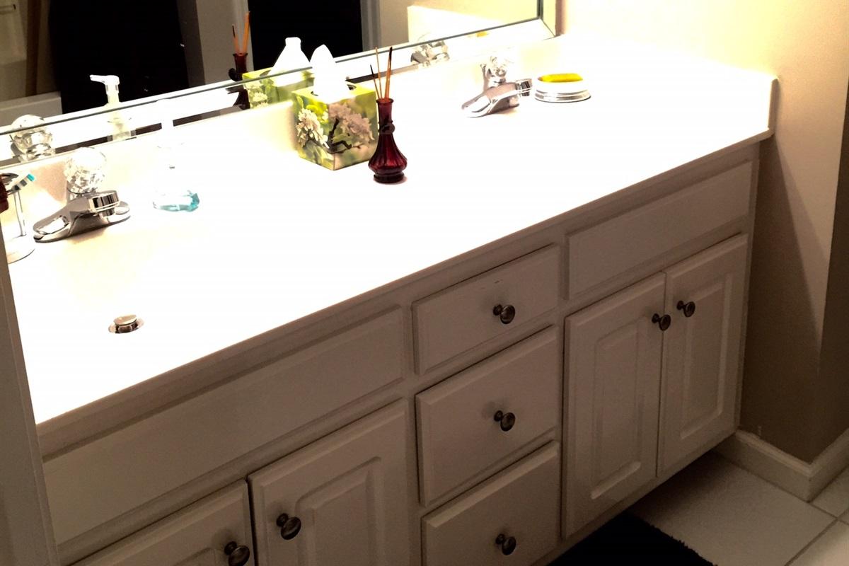 Bedroom 2 bath with double vanity