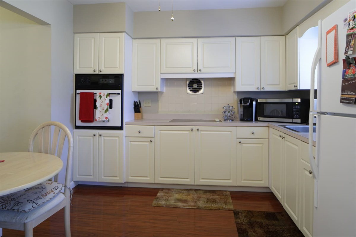 Fully Equipped Kitchen has the works for all of your cooking needs!