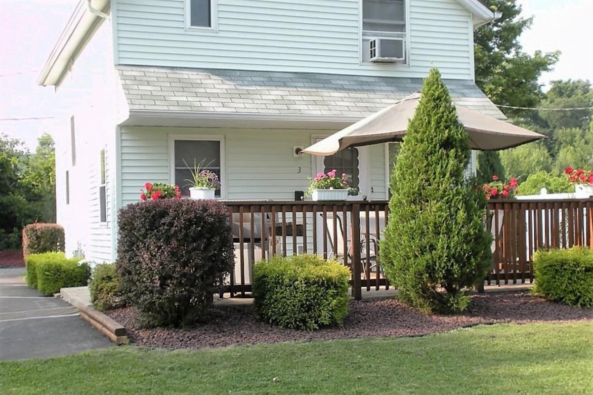 West Ann House back patio/deck