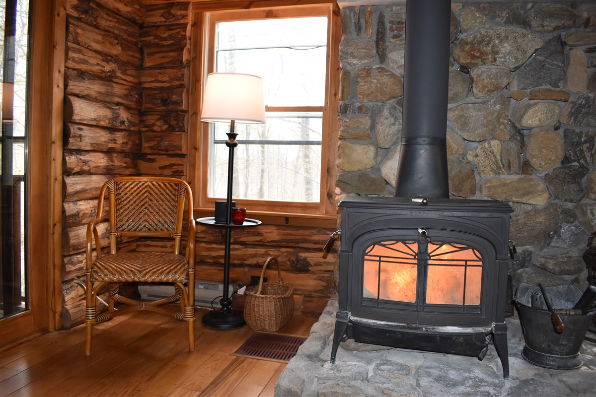 Cozy wood burning stove