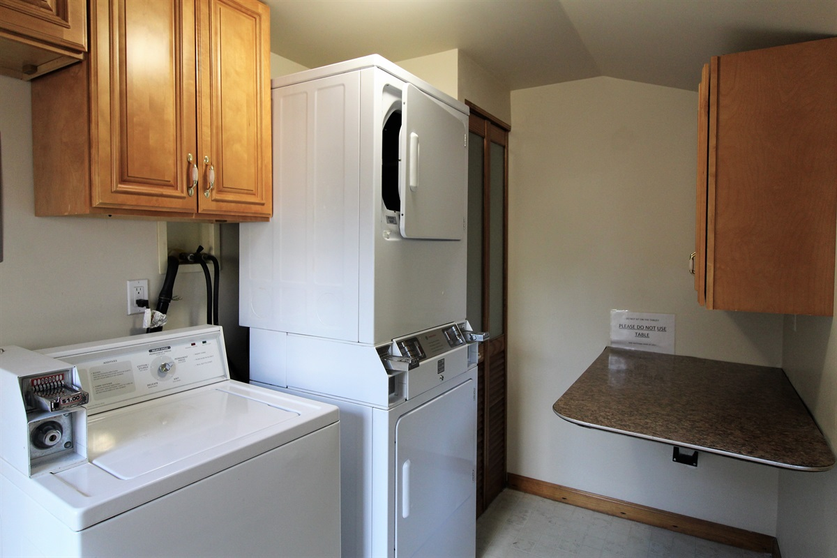 Laundry Room on premises is FREE for our Church Street and Sideline guests (Yes, they are coin op, but we provide the quarters!)