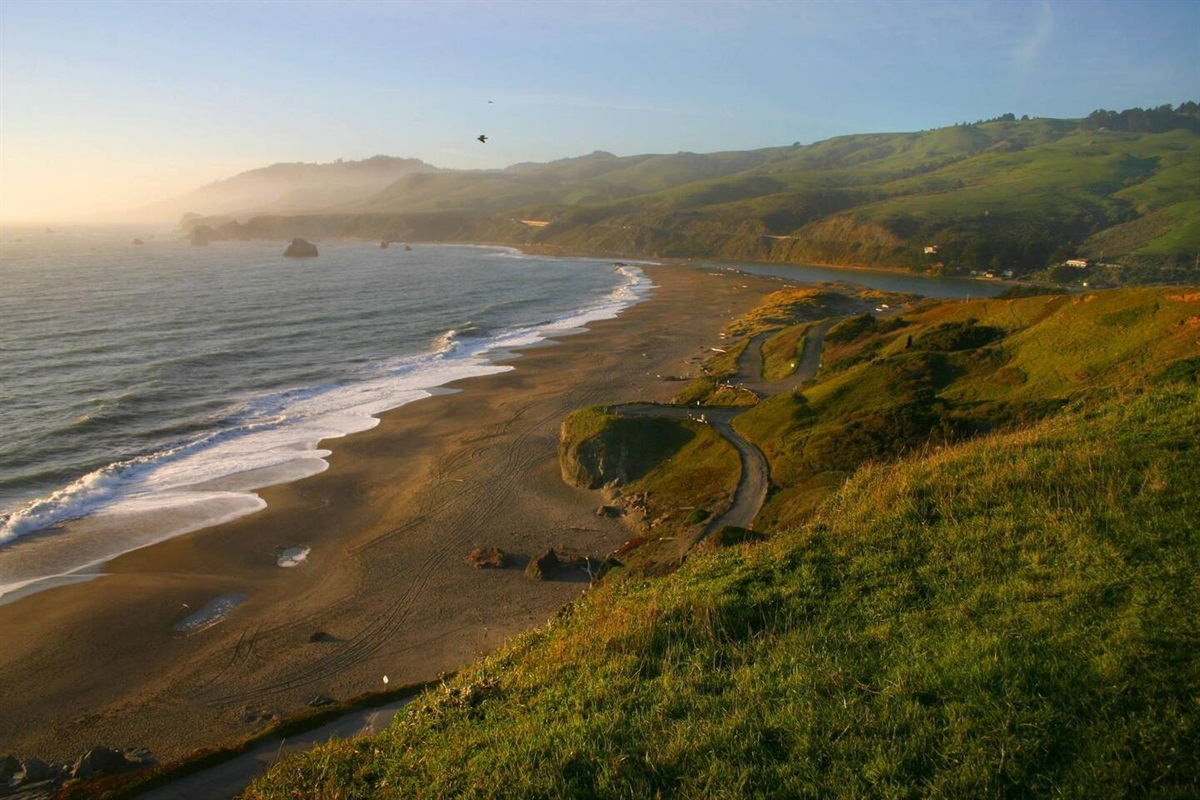 Pacific Sunset View of Goat Rock State Beach North View
