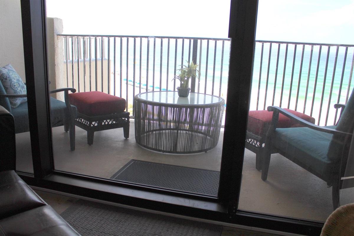 Master private balcony
